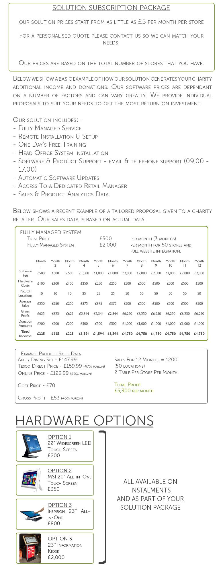 Website - Instor Prices